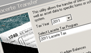 Easily prepare year-end tax returns by exporting EasyACCT data to Lacerte or ProSeries