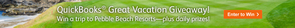 QuickBooks Great Vacation Giveaway!
