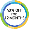 40% off for 12 months
