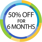50% off for 6 months